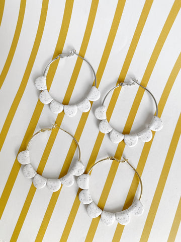 White Pebble Darcy Hoops
