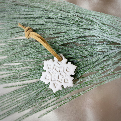 Snowflake Christmas Ornament - Natural