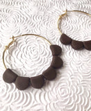 Chocolate Darcy Hoops