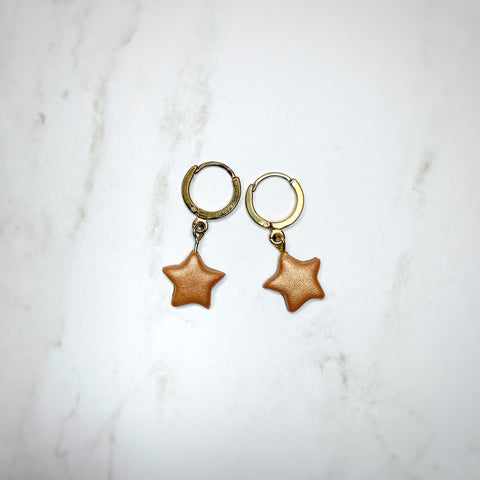 Dainty Hoops - Copper Star
