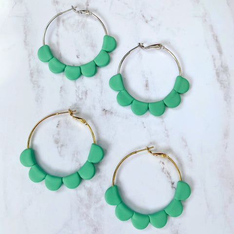 Green Darcy Hoops