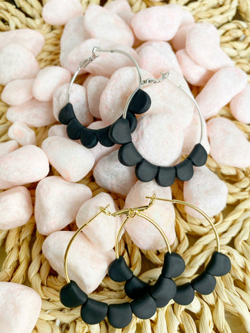 Black Darcy Hoops