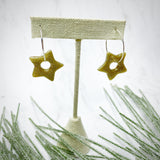 Gold Glam Star Hoop