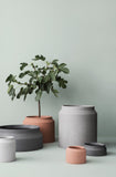 Concrete Pot (Light Gray/Small)