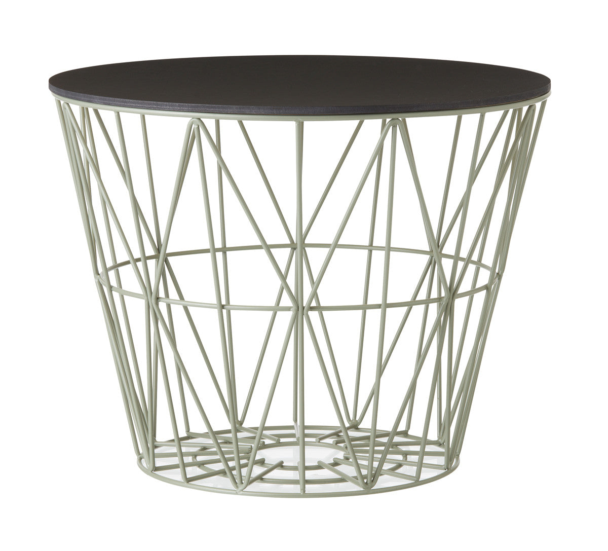 Black Oak Wire Basket Top