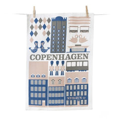 Copenhagen Tea Towel (Blue)
