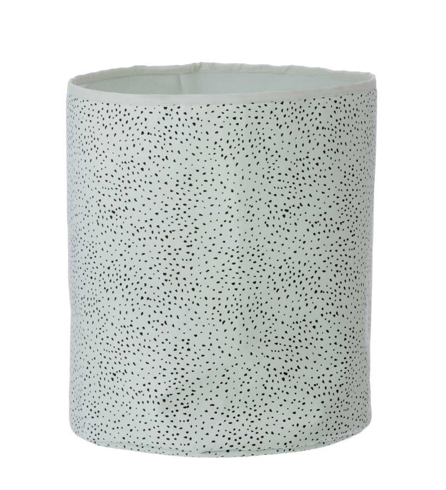Mint Dot Basket Medium