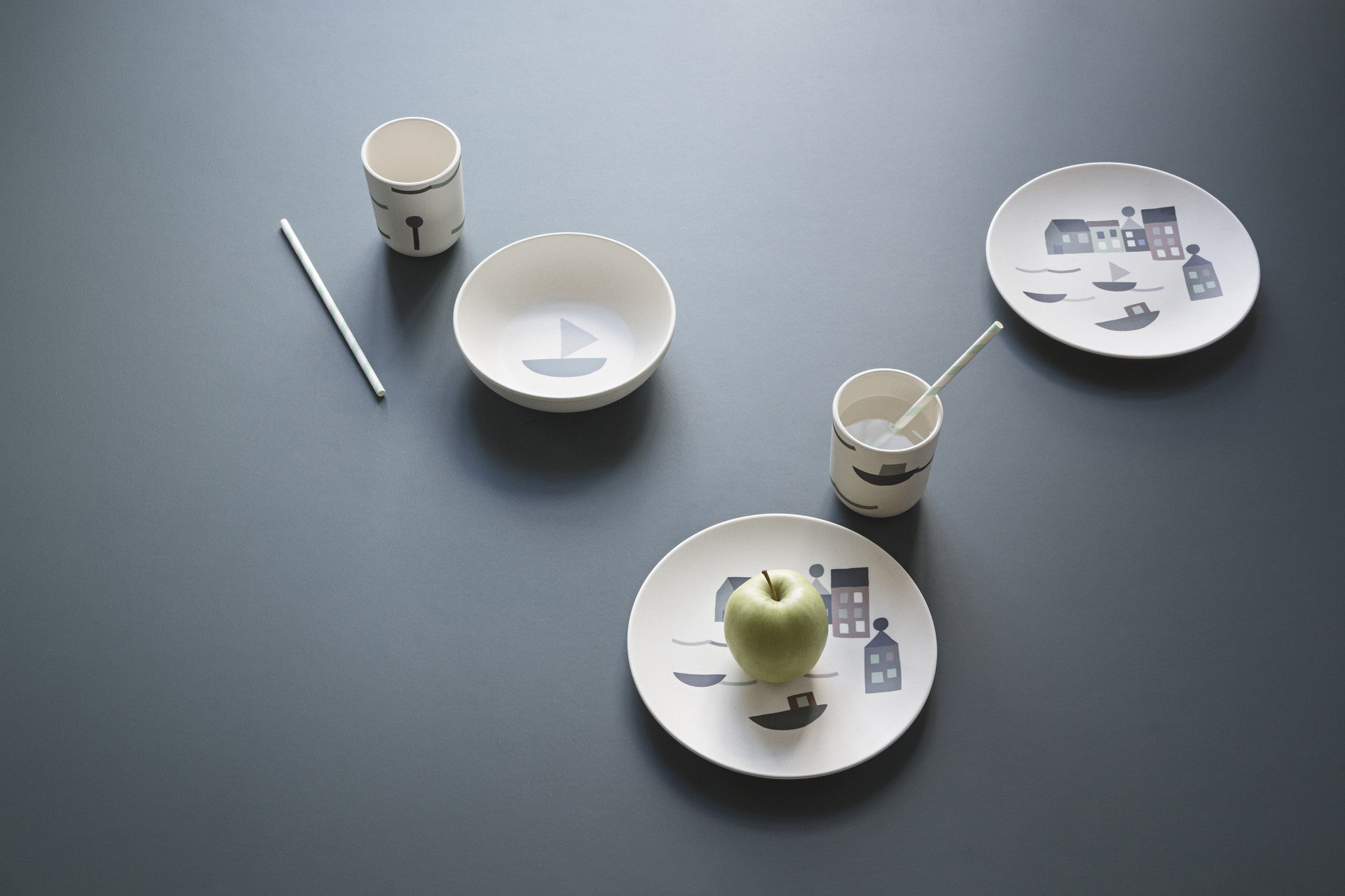 Seaside Bamboo Dinner Set