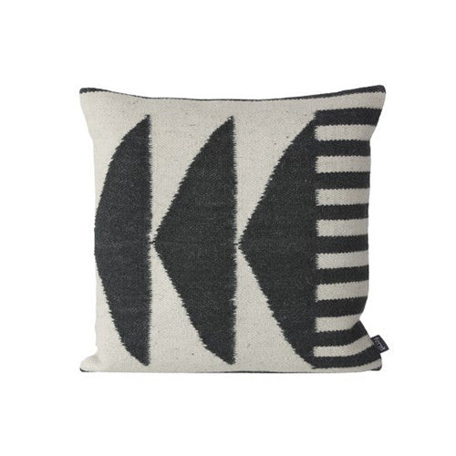 Kelim Black Triangles Pillow