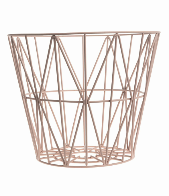 Wire Basket Rose Clever Spaces