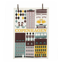 Copenhagen Tea Towel (White)