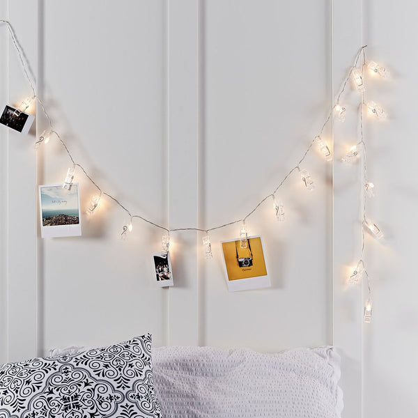LED fairy lights with pegs - battery