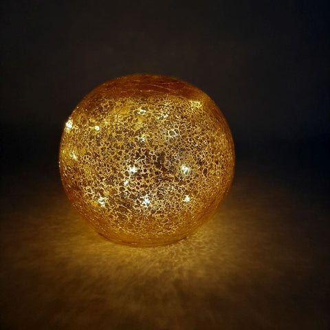 LED glass light ball - gold