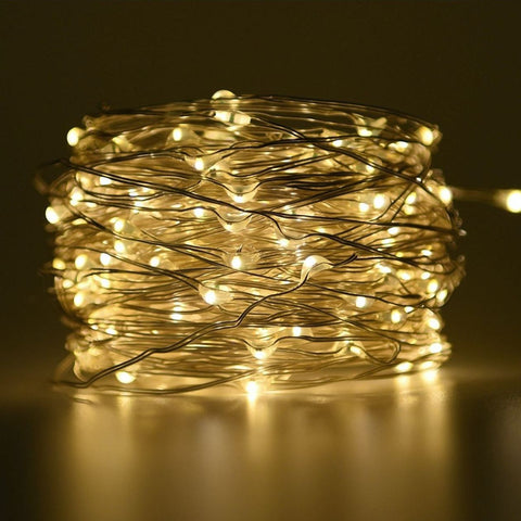 LED seed fairy lights 10m (warm white) - battery