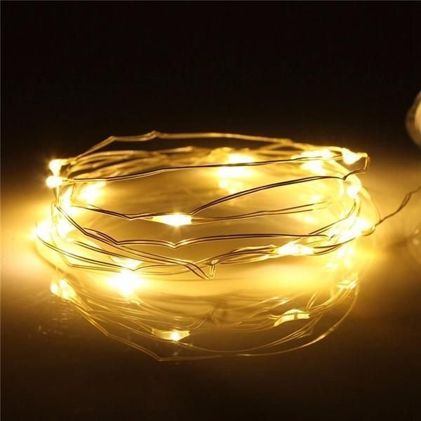 LED seed fairy lights 2m (warm white) - battery