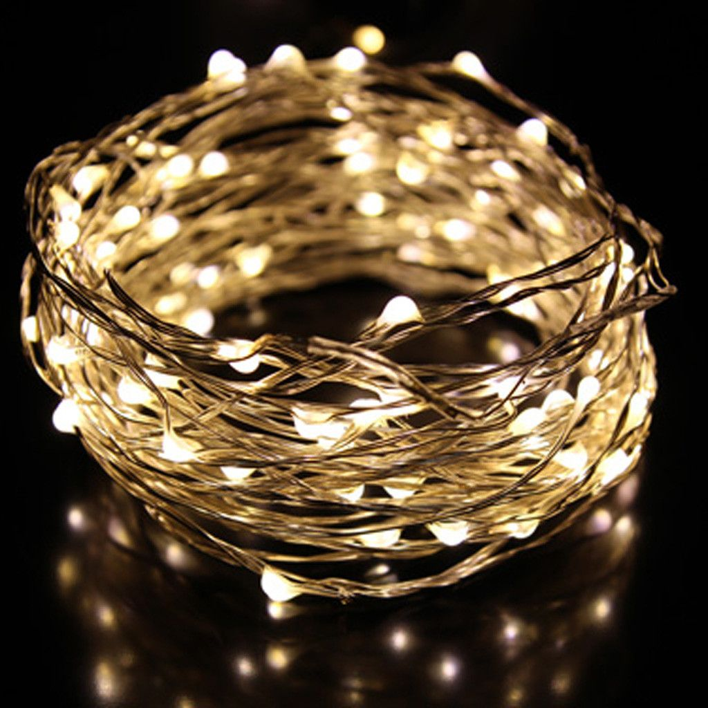 LED seed fairy lights 4m (warm white) - battery