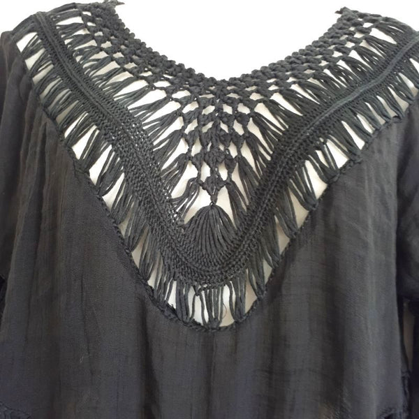 black island tassel cover up