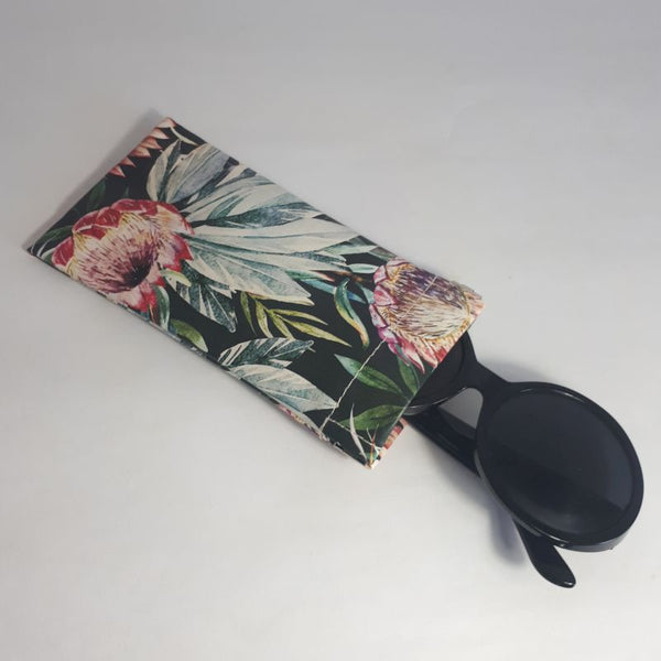 black protea sunglasses case