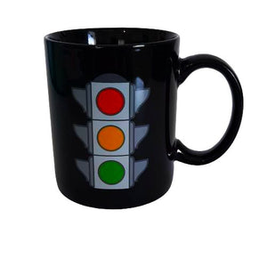 black heat changing mug - traffic light