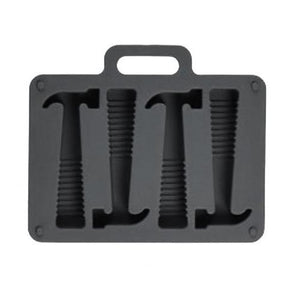 black silicone hammer ice tray