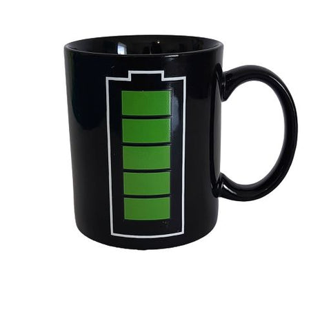 black heat changing mug - battery