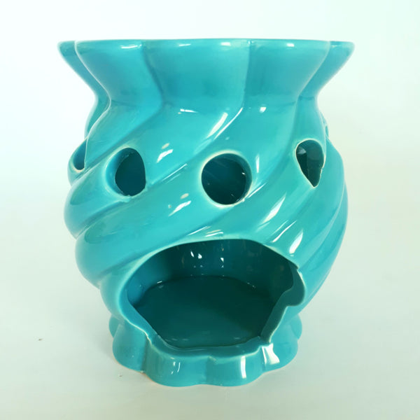 blue ceramic oil burner