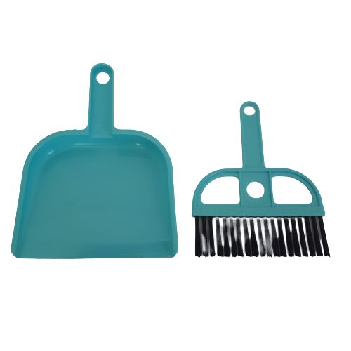 blue mini dustpan and brush
