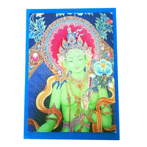 buddhist card - green tara