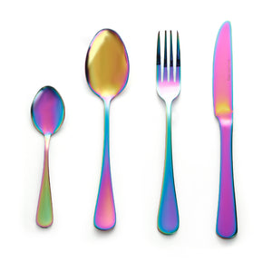 colourful cutlery set
