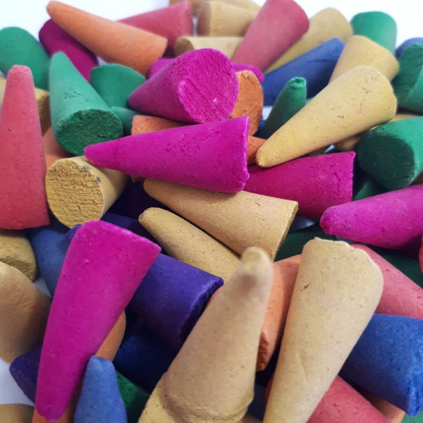 colourful colorful incense cones