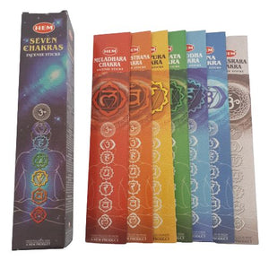 colourful chakra incense pack