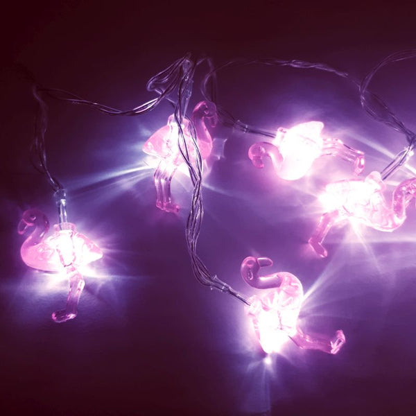LED fairy lights pink flamingo - battery