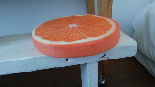 fruit slice orange cushion