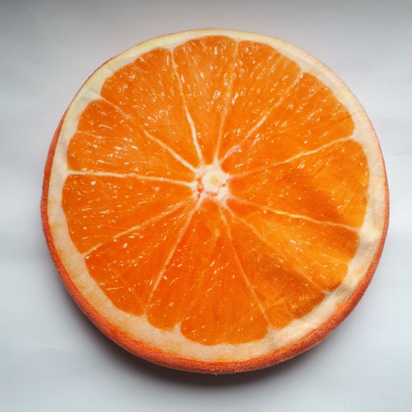 orange slice cushion