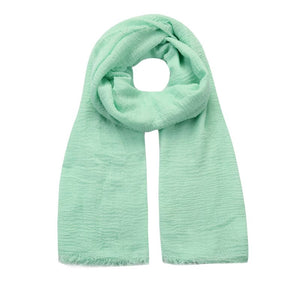 pastel green mint crushed viscose scarf