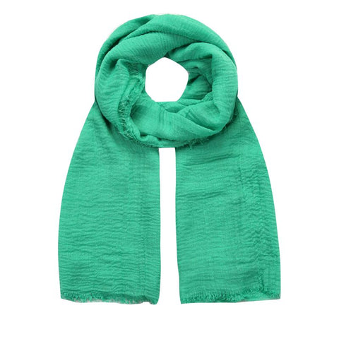 teal green crushed viscose scarf