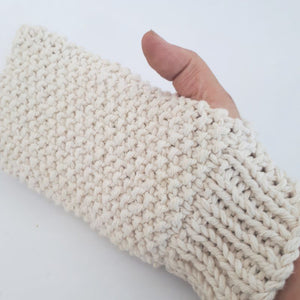 handmade cotton shower mitt