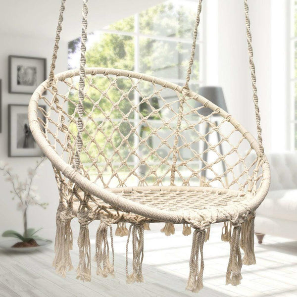 macrame rope hanging chair