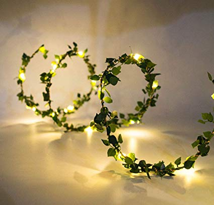LED leaf garland fairy lights - battery