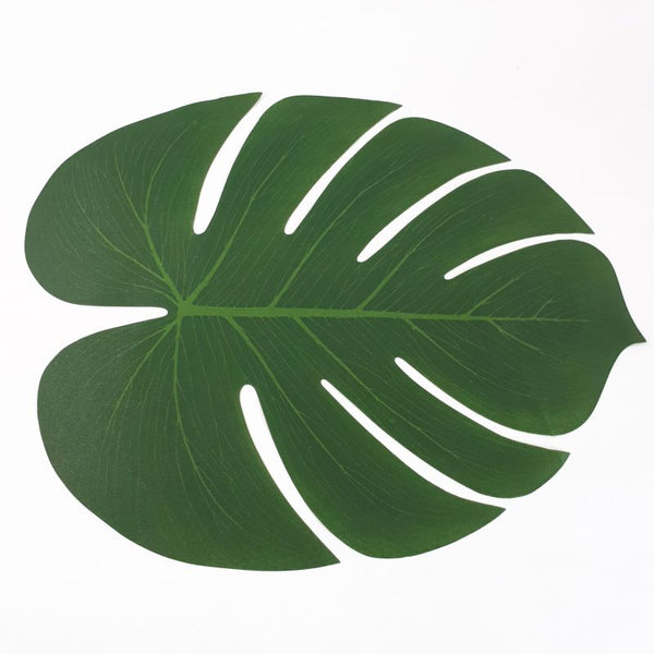 tropical leaf place mat