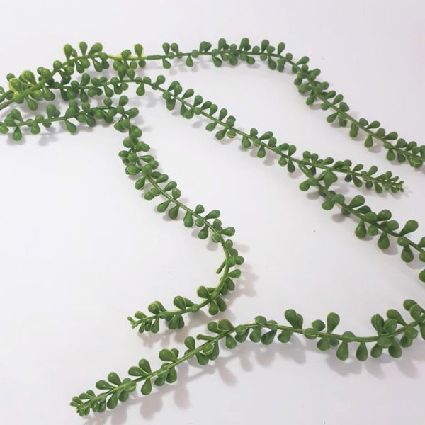 leaf strand - hanging pearls