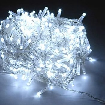 LED fairy lights - pure white - plug in