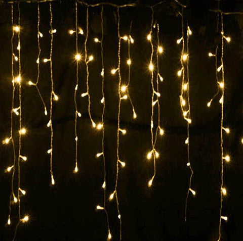 LED fairy light icicle curtain 3m - plug in