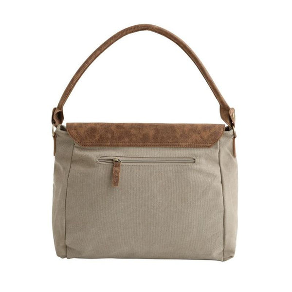 taupe messenger bag