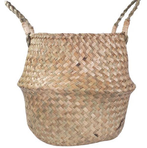 natural woven belly basket