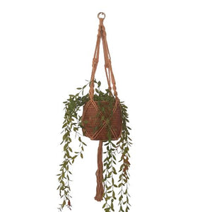natural macrame pot plant holder - classic style