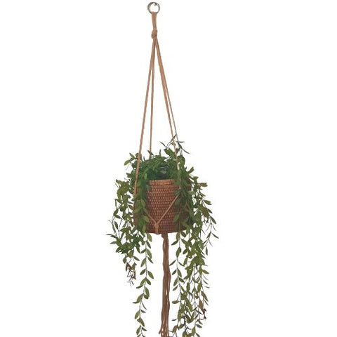 natural macrame pot plant holder - simple style