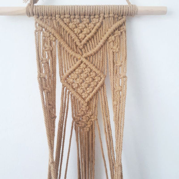 natural macrame rope pot plant hanger