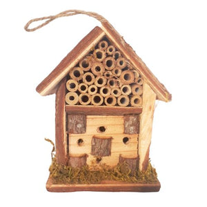natural wooden bug hotel
