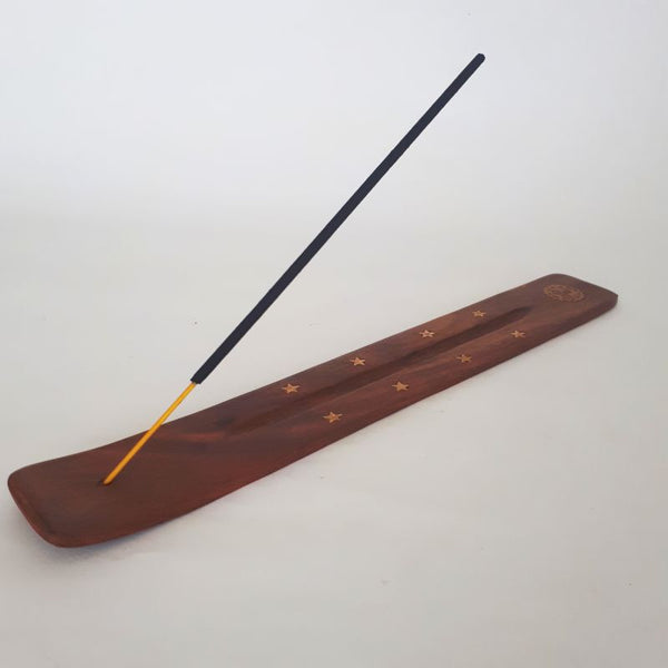 natural wooden incense holder